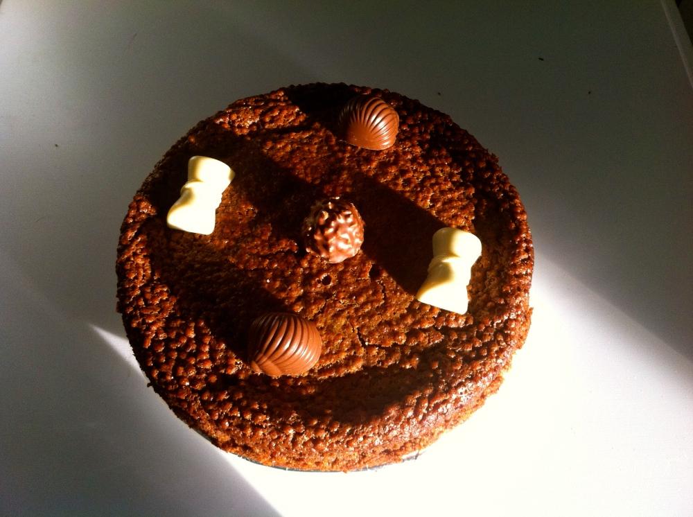 Tarta de turron de chocolate