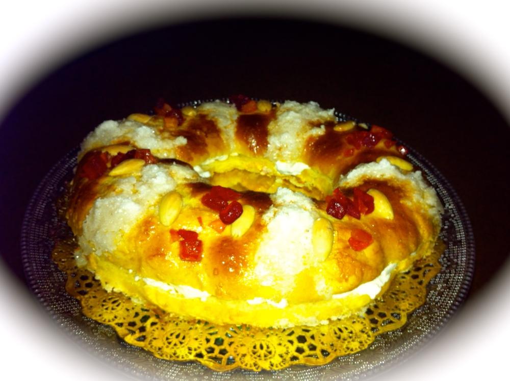 Roscon de Reyes con nata