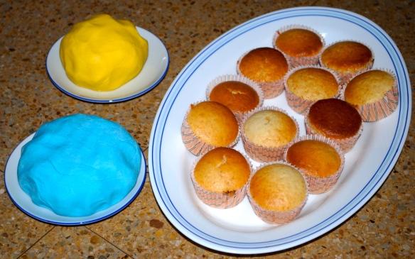 Ingredientes del fondant y los muffins