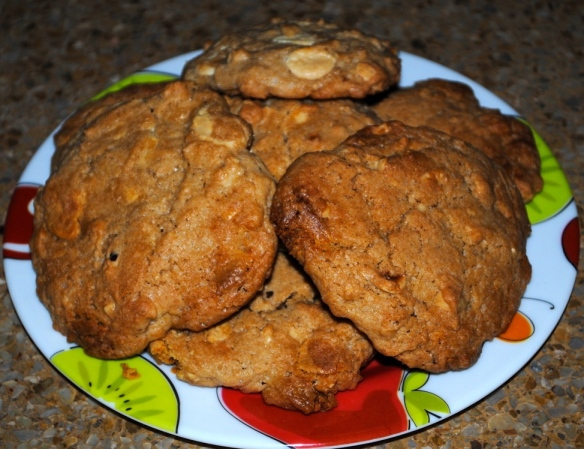 Cookies de avellanas & Chocoblanco