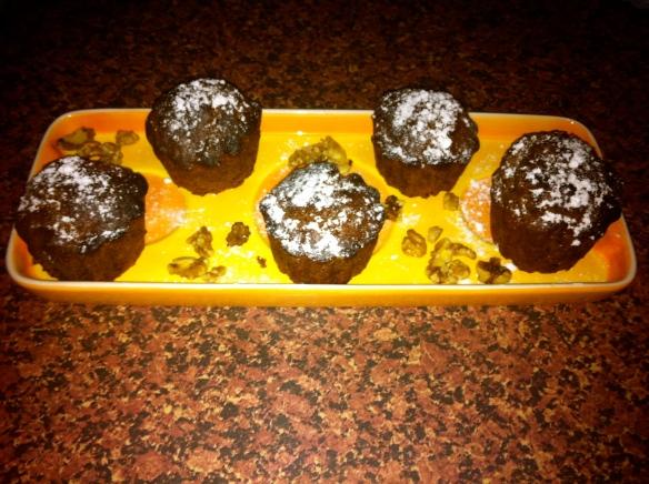 muffins de cacao & nueces