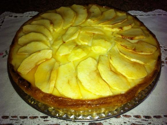 Pastel de crema & manzana