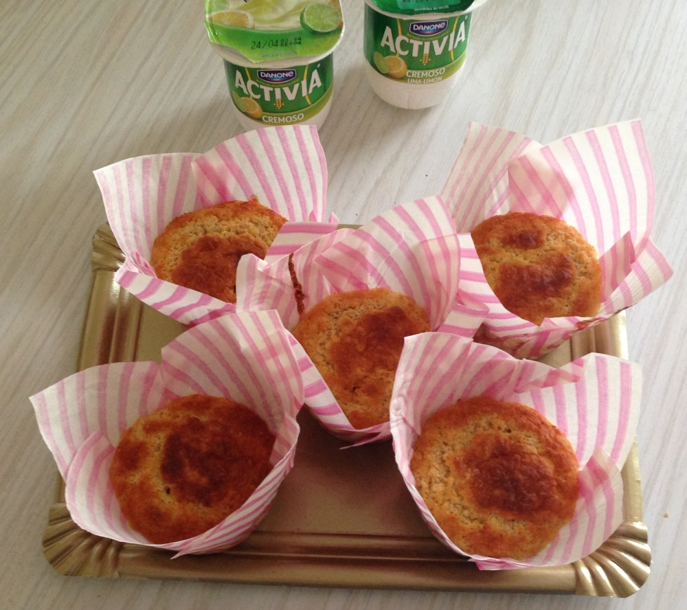 Muffins de avena & lima limón