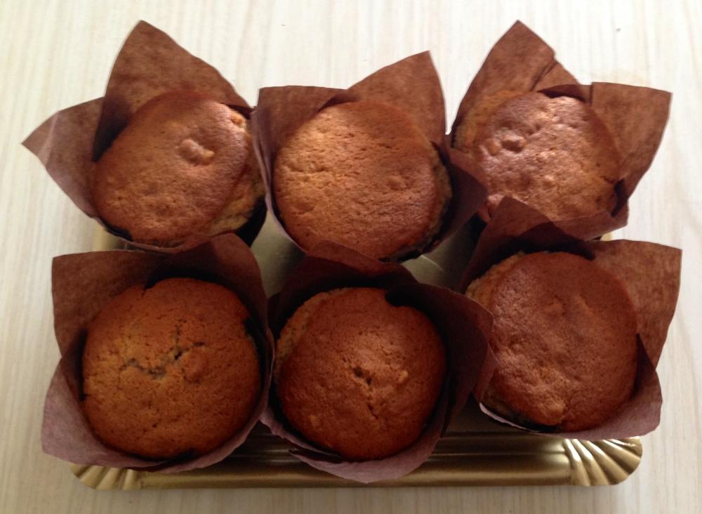 Muffins de platano & nuez
