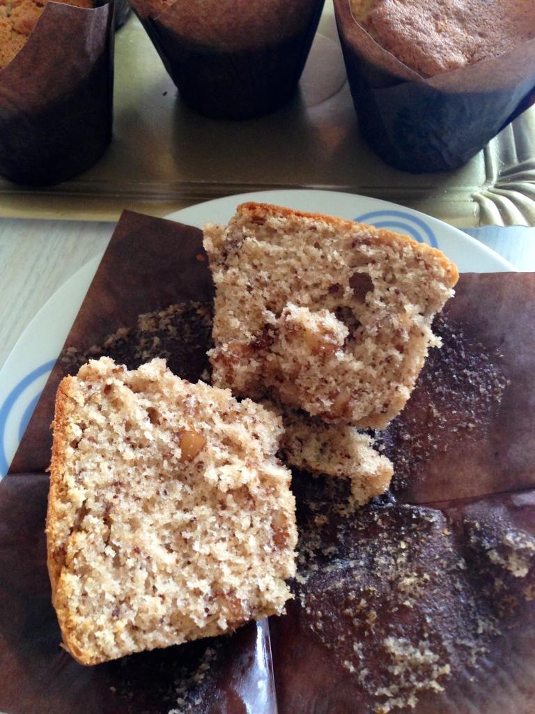Muffins de platano & nuez1