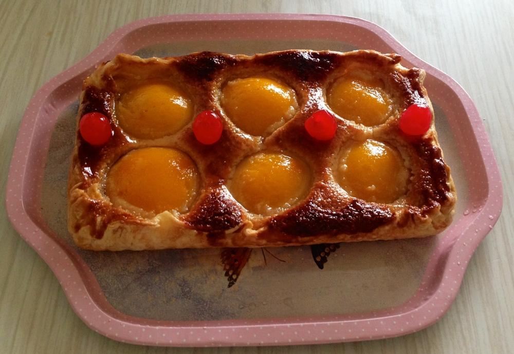 Cake de almendra & melocoton