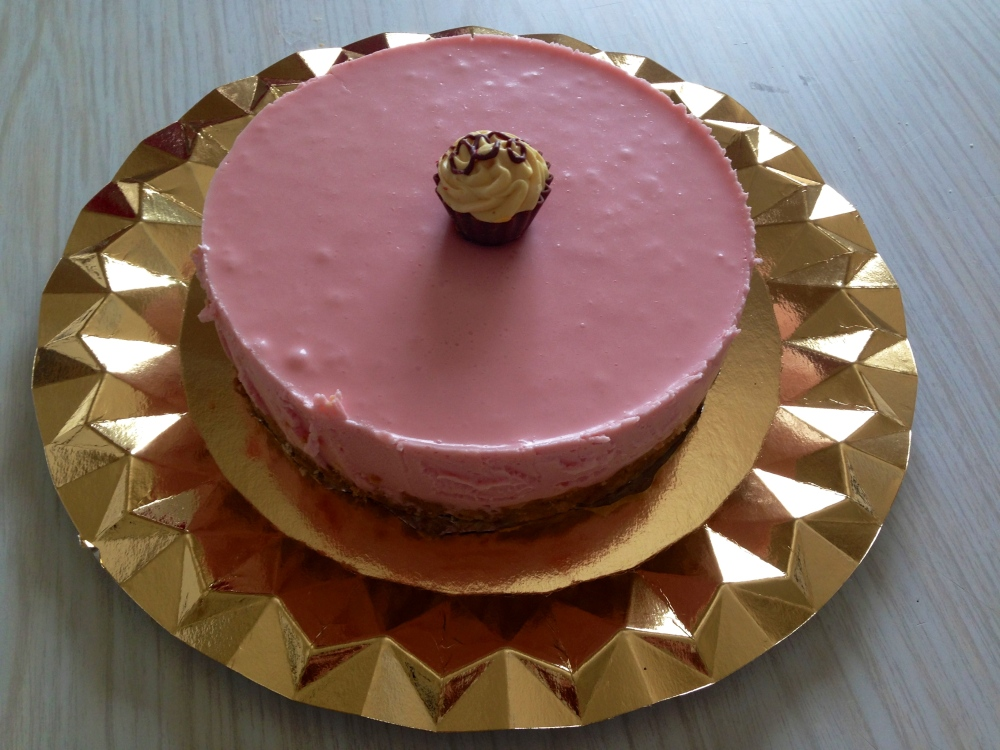 Tarta de queso & gelatina de fresa