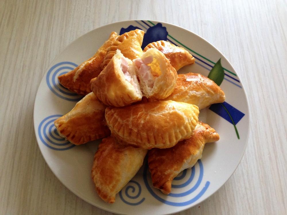 Empanadillas de crema de queso light & pavo