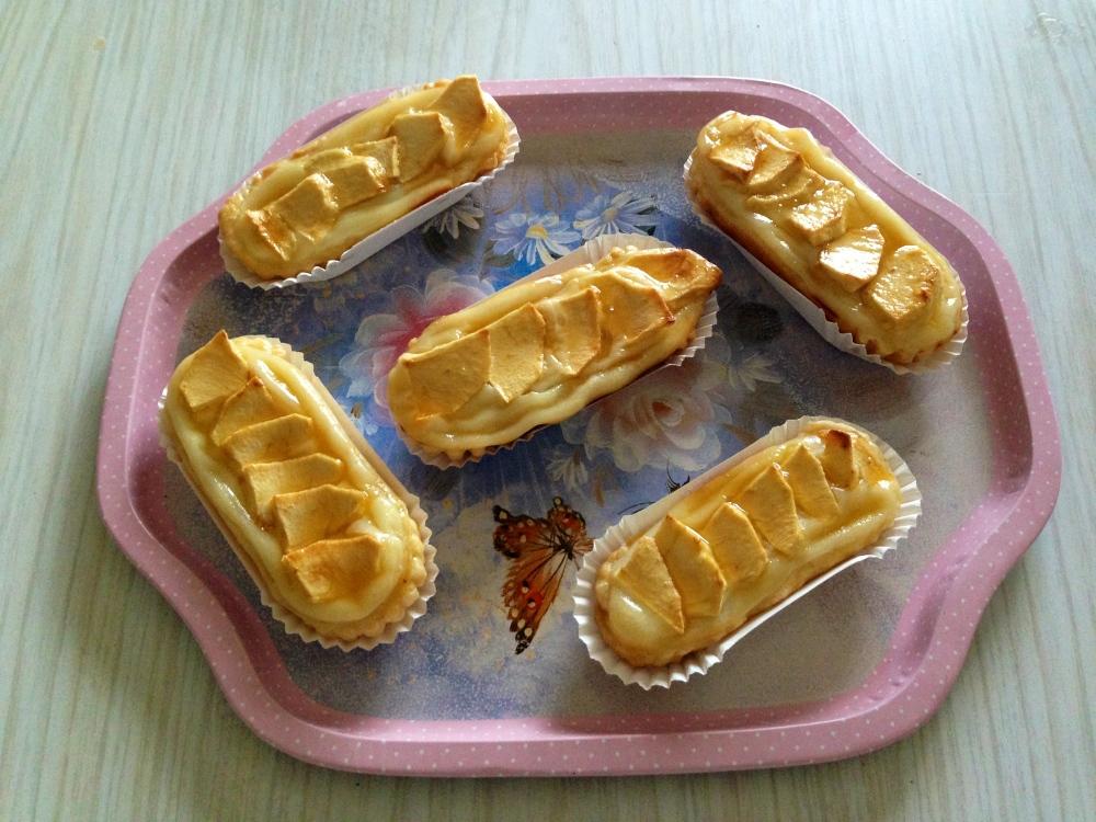 Canoas de crema & manzana