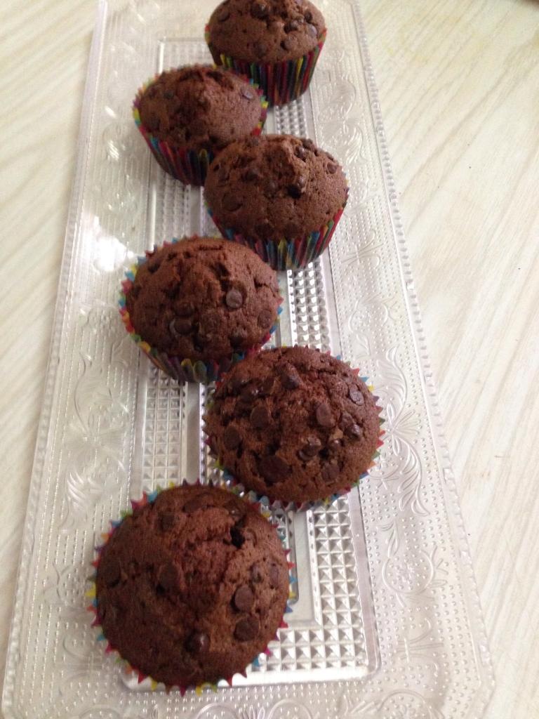 Muffins doble choco