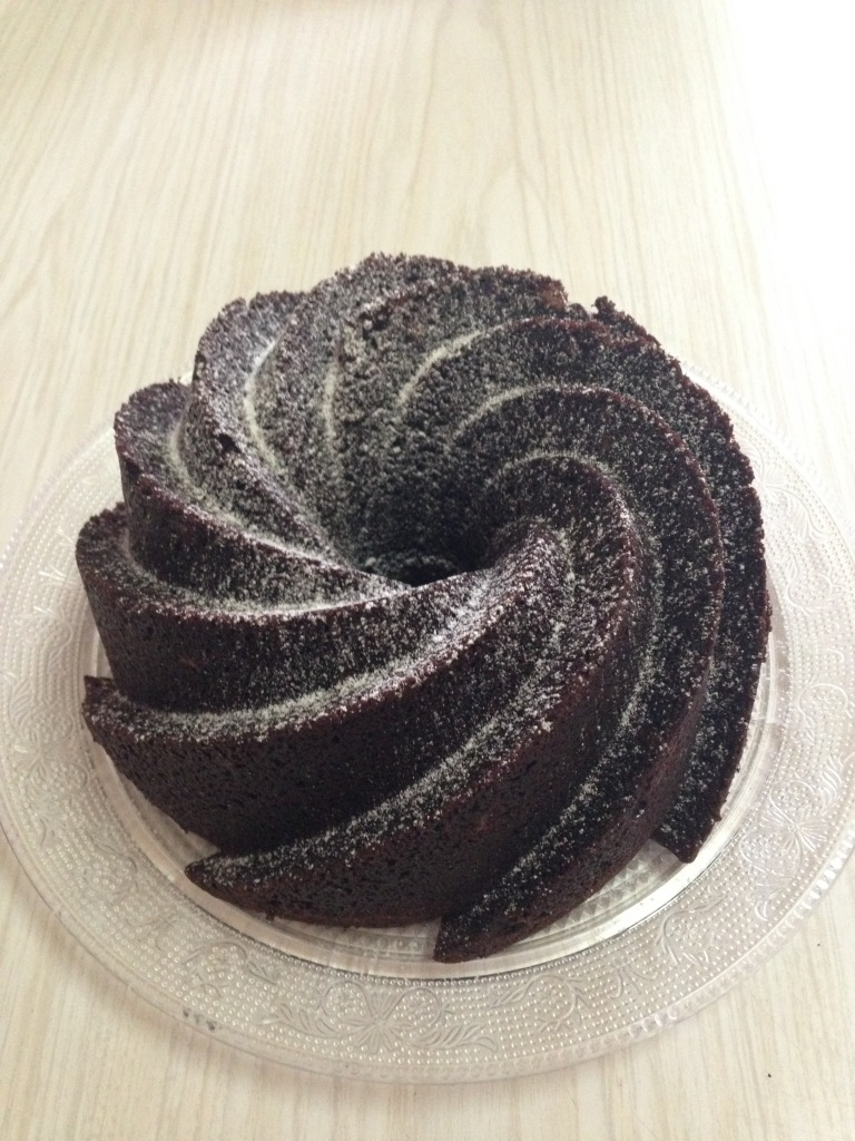 Bundt de nueces & chocolate