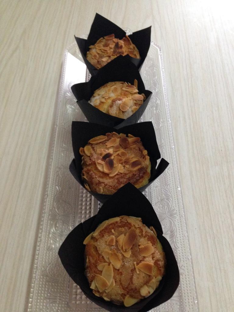 Muffins de nata & almendra