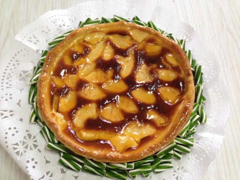 Tartaleta de queso & manzana