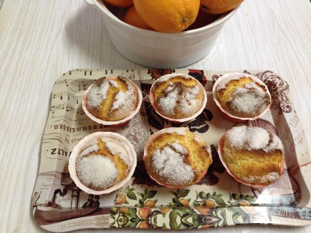 Muffins condensados de naranja