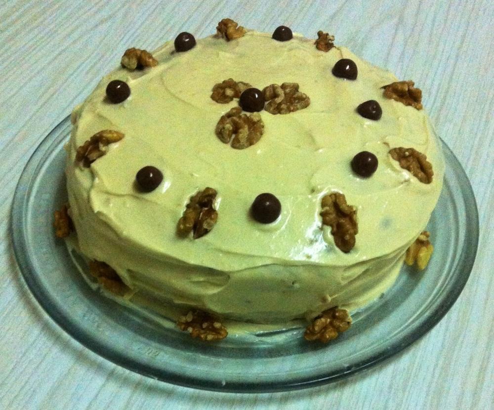 Cake de nuez & cafe