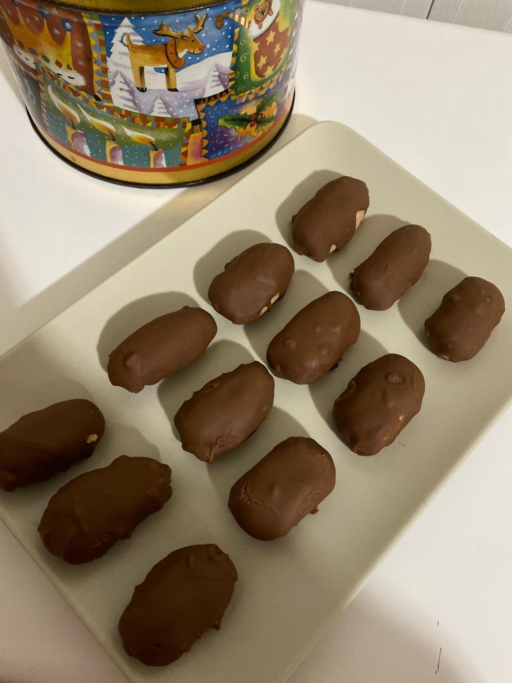 Polvorones con chocolate