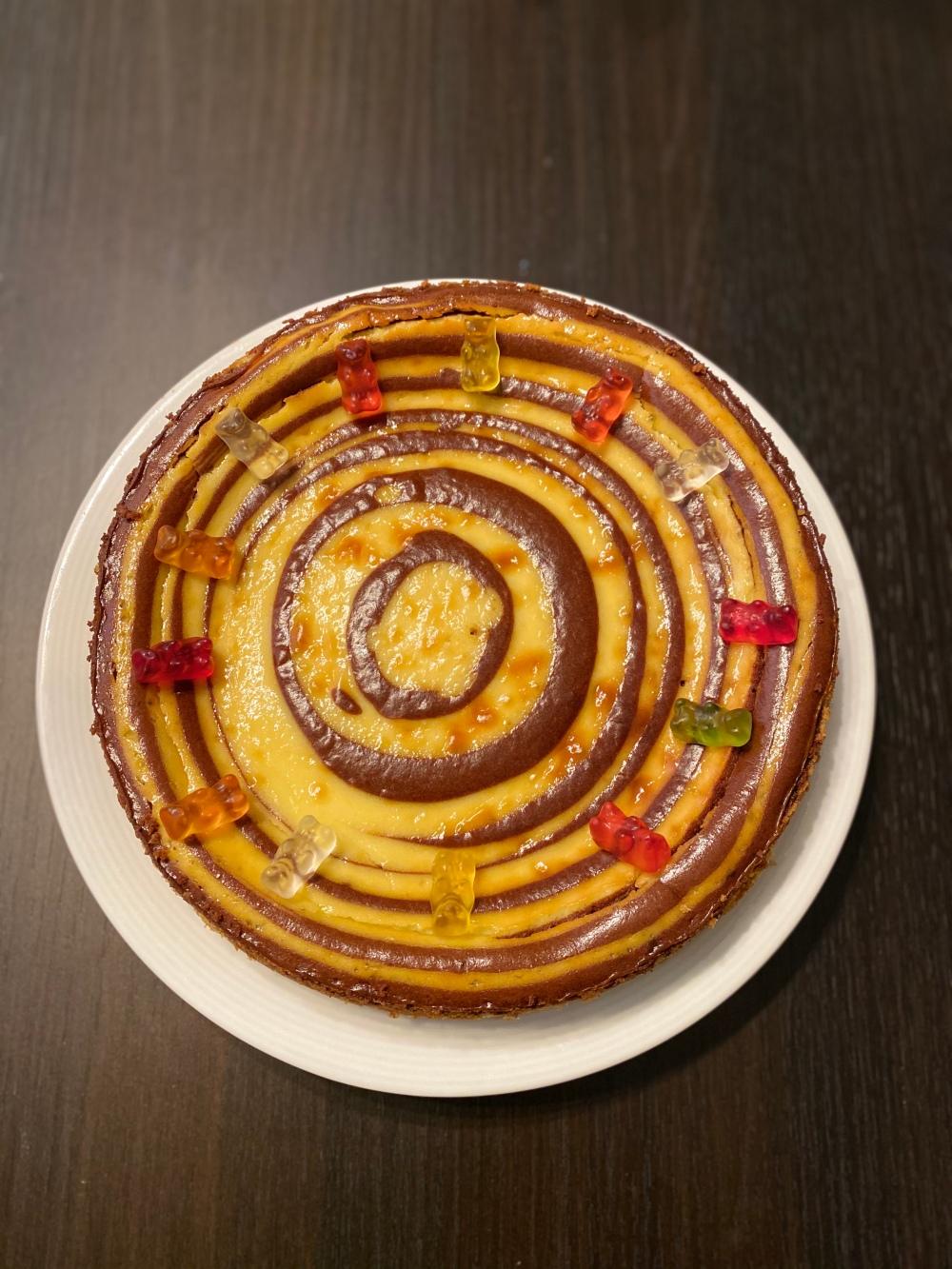 Tarta espiral de queso
